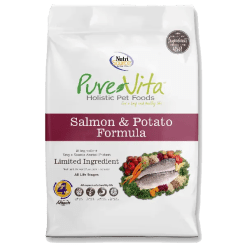 NutriSource Pure Vita Dog Grain Free Salmon Potato 15lb.