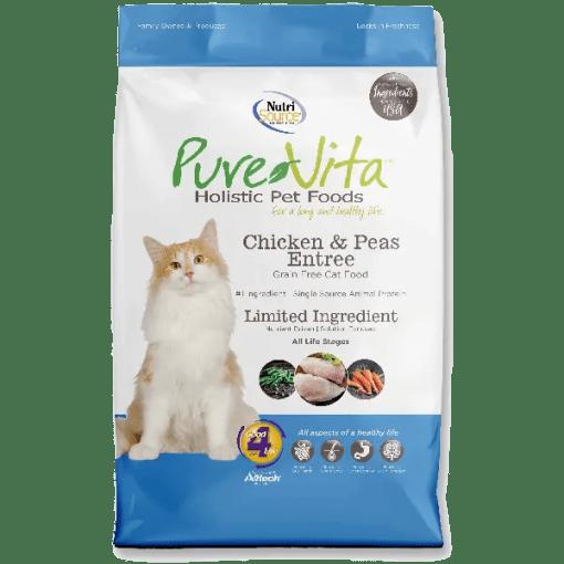 NutriSource Pure Vita Grain Free Cat Chicken Pea 15lb.