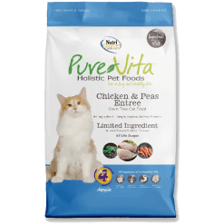 NutriSource Pure Vita Grain Free Cat Chicken Pea 15lb.