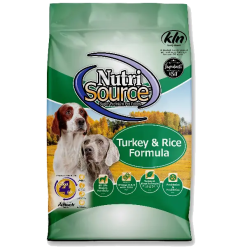 NutriSource Dog Turkey Rice 5lb.
