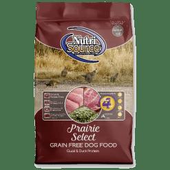 NutriSource Dog Food, Grain Free, Prairie Select.
