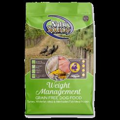 NutriSource Dog Food, Grain Free, Weight Management.