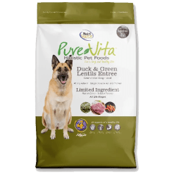 NutriSource Pure Vita Dog Grain Free Duck Green Lentils 15lb.