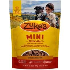 Zuke's Mini Naturals chicken Recipe Training Dog Treats, 16-oz Bag.
