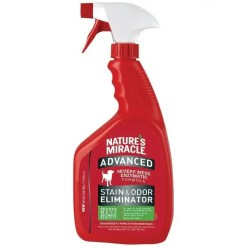 Nature's Miracle Advanced Dog Enzymatic Severe Mess Stain & Odor Eliminator, 32-oz Spray Bottle.