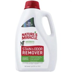 Nature's Miracle Dog Enzymatic Stain & Odor Remover, 1-gal Bottle.