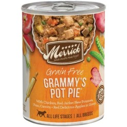 Merrick Grain-Free Grammy's Pot Pie Recipe Canned Dog Food, 12.7-oz, Case of 12.
