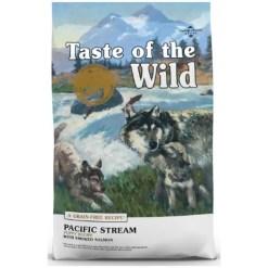 Taste of the Wild Pacific Stream Puppy Formula Grain-Free Dry Food.