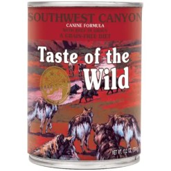 Taste of the Wild Southwest Canyon Grain-Free Canned Dog Food, 13-oz Can. Case of 12.