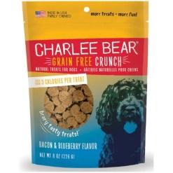 Charlee Bear Natural Bear Crunch Bacon & Blueberry Grain-Free Dog Treats, 8-oz bag.