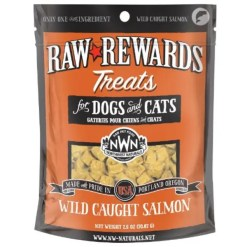Northwest Naturals Raw Rewards Freeze Dried Wild Caught Salmon Pet Treat, 2.5-oz Bag.