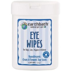 Earthbath Eye Wipes for Dogs & Cats, 25 Wipes.