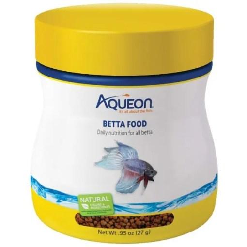 Aqueon Betta Fish Food, 0.95-oz Bottle.