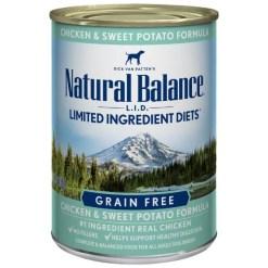 Natural Balance L.I.D. Chicken & Sweet Potato Formula Grain-Free Canned Dog Food, 13-oz, Case of 12