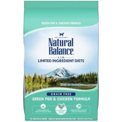 Natural Balance L.I.D. Limited Ingredient Diets Green Pea & Chicken Formula Grain-Free Dry Cat Food, 5-lb Bag.