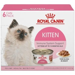 Royal Canin Feline Health Nutrition Thin Slices in Gravy Wet Kitten Food, 3-oz Case of 6.