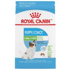 Royal Canin X-Small Puppy Dry Food, 3-lb Bag.