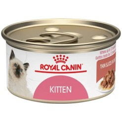 Royal Canin Feline Health Nutrition Thin Slices in Gravy Wet Kitten Food, 3-oz Can.