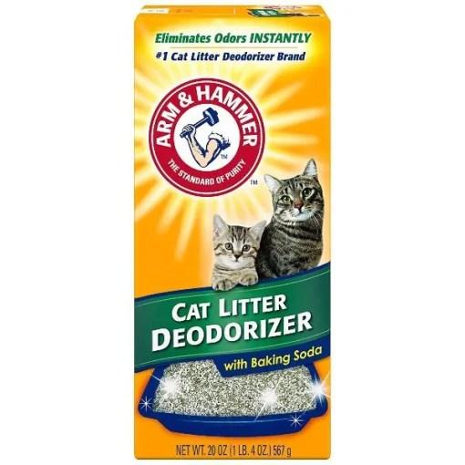Arm & Hammer Litter Cat Litter Deodorizer Powder, 20-oz Box.