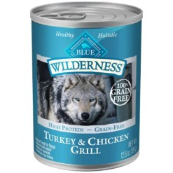 Blue Buffalo Wilderness Turkey & Chicken Grill Grain-Free Canned Dog Food, 12.5-oz