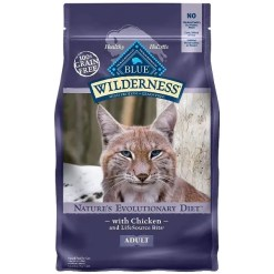 Blue Buffalo Wilderness Chicken Recipe Grain-Free Dry Cat Food, 6-lb Bag.