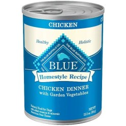 Blue Buffalo Homestyle Recipe Chicken Dinner with Garden Vegetables & Brown Rice Canned Dog Food, 12.5-oz, Case of 12.