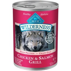 Blue Buffalo Wilderness Salmon & Chicken Grill Grain-Free Canned Dog Food, 12.5-oz, Case of 12. SKU 4024311292