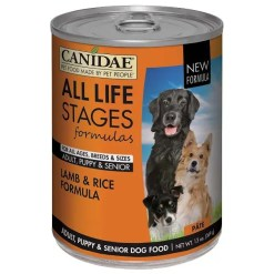 CANIDAE Life Stages Lamb & Rice Formula Canned Dog Food, 13-oz Can, Case of 12.