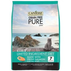 CANIDAE Grain-Free PURE Sea with Salmon Dry Cat Food, 5-lb.
