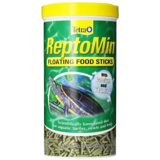 Tetra ReptoMin Floating Sticks Turtle & Amphibian Food, 10.59-oz Bottle.