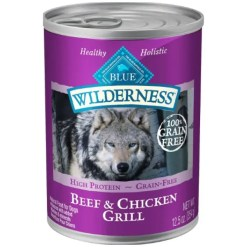 Blue Buffalo Wilderness Beef & Chicken Grill Grain-Free Canned Dog Food, 12.5-oz, Case of 12