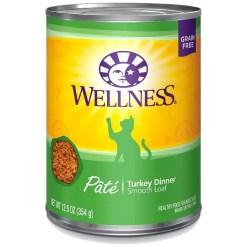 Wellness Complete Health Turkey Formula Grain-Free Canned Cat Food, 12-oz Can.