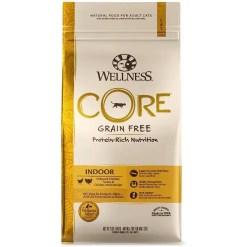 Wellness CORE Grain-Free Indoor Formula Dry Cat Food, 2-lb Bag.