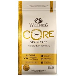 Wellness CORE Grain-Free Indoor Formula Dry Cat Food, 5-lb Bag.