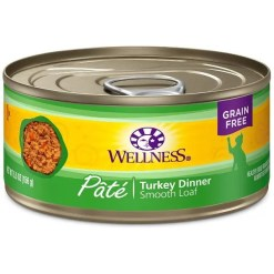 Wellness Complete Health Turkey Formula Grain-Free Canned Cat Food, 5.5-oz Can.