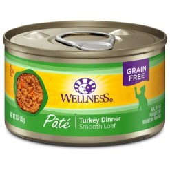Wellness Complete Health Turkey Formula Grain-Free Canned Cat Food, 3-oz Can.