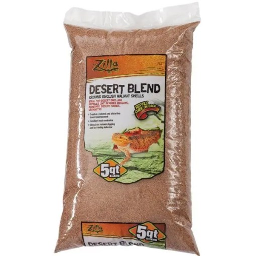 Zilla Ground English Walnut Shell Reptile Bedding, 5-qt Bag.
