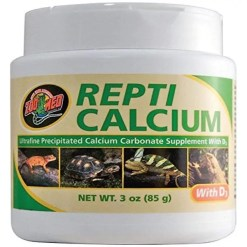 Zoo Med Repti Calcium with D3 Reptile Supplement, 3-oz Jar.