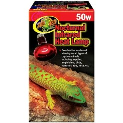 Zoo Med Repti Infrared Heat Lamp, 50 watt Bulb.