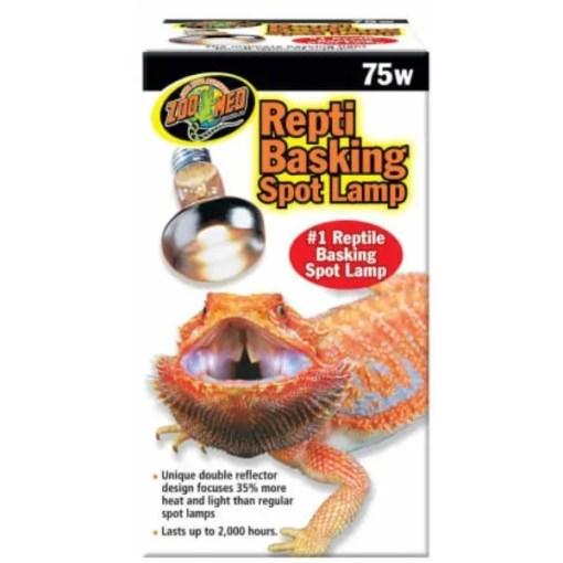 Zoo Med Repti Basking Reptile Spot Lamp, 75 watt Bulb.