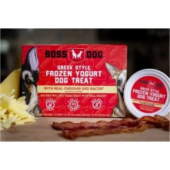 Boss Dog Greek Style Frozen Yogurt Bacon & Cheddar Flavor.