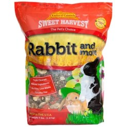 Sweet Harvest Rabbit & More Small Animal Food, 4-lb Bag.
