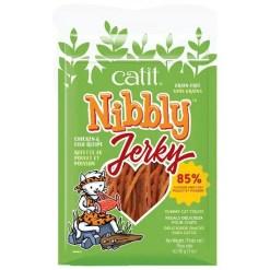 Catit Nibbly Jerky Chicken & Fish Cat Treats, 1-oz.