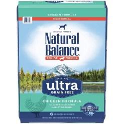 Natural Balance Original Ultra Senior Formula Chicken Grain-Free Dry Dog Food, 24-lb Bag.
