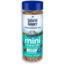 Natural Balance Limited Ingredient Diets Mini Rewards Soft & Chewy Chicken Formula Dog Treats, 5.3-oz Jar.