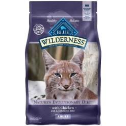 Blue Buffalo Wilderness Chicken Recipe Grain-Free Dry Cat Food, 2.5-lb Bag.