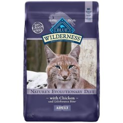 Blue Buffalo Wilderness Chicken Recipe Grain-Free Dry Cat Food, 12-lb Bag.