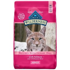 Blue Buffalo Wilderness Salmon Recipe Grain-Free Dry Cat Food, 11-lb Bag.