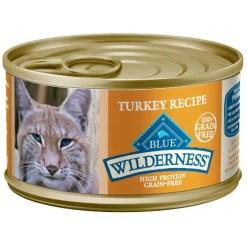 Blue Buffalo Wilderness Turkey Grain-Free Canned Cat Food, 3-oz, Case of 24.