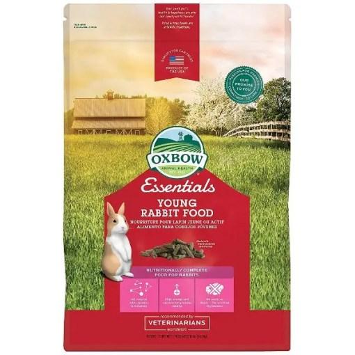 Oxbow Essentials Bunny Basics Young Rabbit Food, 10-lb Bag.